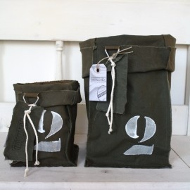 """Stapelgoed """"Belangrijk"""" Opbergzak Leger Groot   Stapelgoed Handmade Collectie   Puur & Mooi wonen"""
