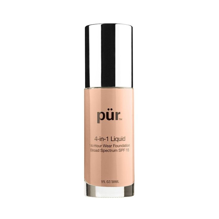 """Pür Cosmetics 4-in-1 Liquid FoundationPür Cosmetics 4-in-1 Liquid Foundation  """"I live for this foundation! The color ranges are extremely competitive with other luxury brands and I've used it on so many of my clients. It has a rich, smooth texture, blends really well, and provides the perfect amount of coverage without overcaking — definitely one of my go-to products."""" — Saisha Beecham  Pür Cosmetics 4-in-1 Liquid Foundation ($39)"""