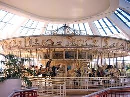In Carousel Center.  It used to be the old Carousel from Roseland Amusement Park in Canandaigua,NY