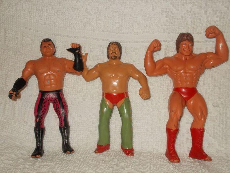 LJN Terry Funk Brutus The Barber Beefcake Paul Orndorff Titan Sports WWF WWE Lot #LJN
