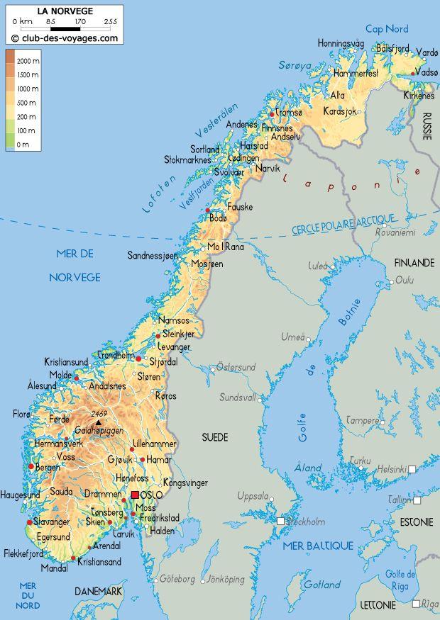 Carte De La Norvege Norvege Carte