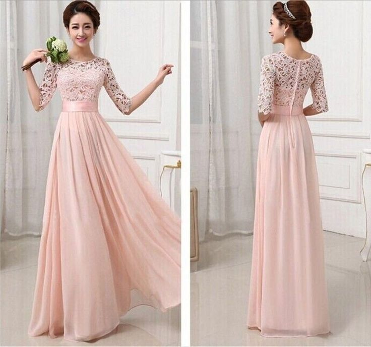 New beaded long bridesmaid prom Formal Evening Cocktail Party Ball Gown dresses in Dresses | eBay