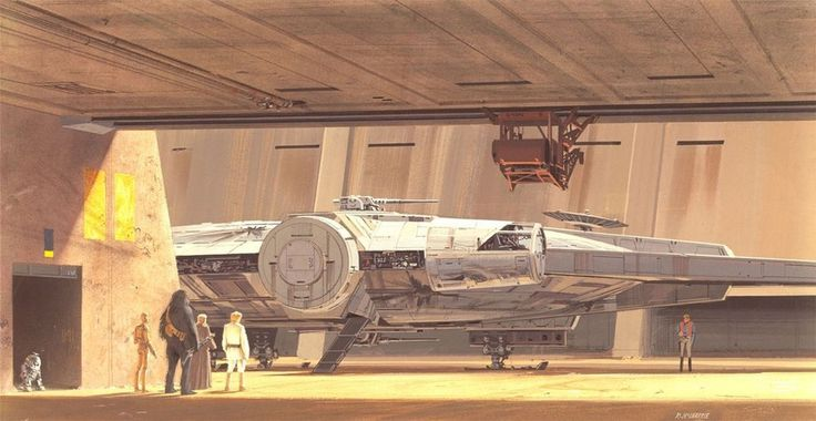 """""""I just did my best to depict how I thought the film should look, I really liked the idea. / star wars concept art - ralph mcquarrie"""