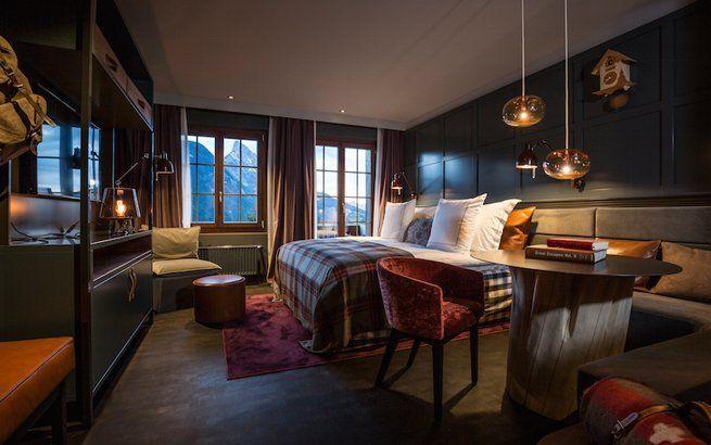 Doppelzimmer im Huus Hotel Gstaad- Saanen