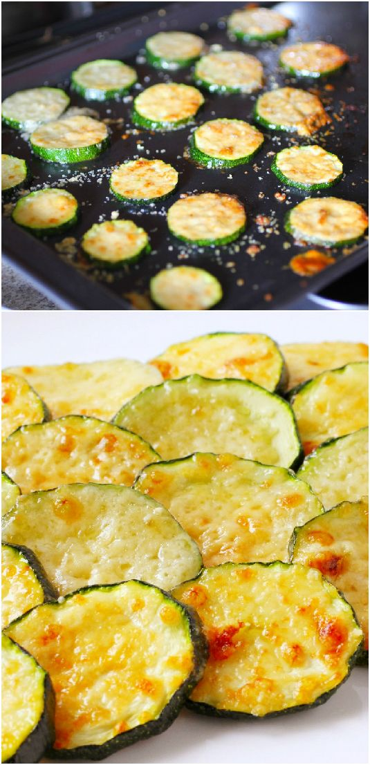Baked Parmesan Zucchini Rounds ~ you're just 2 ingredients away from a quick and easy, delicious side dish!