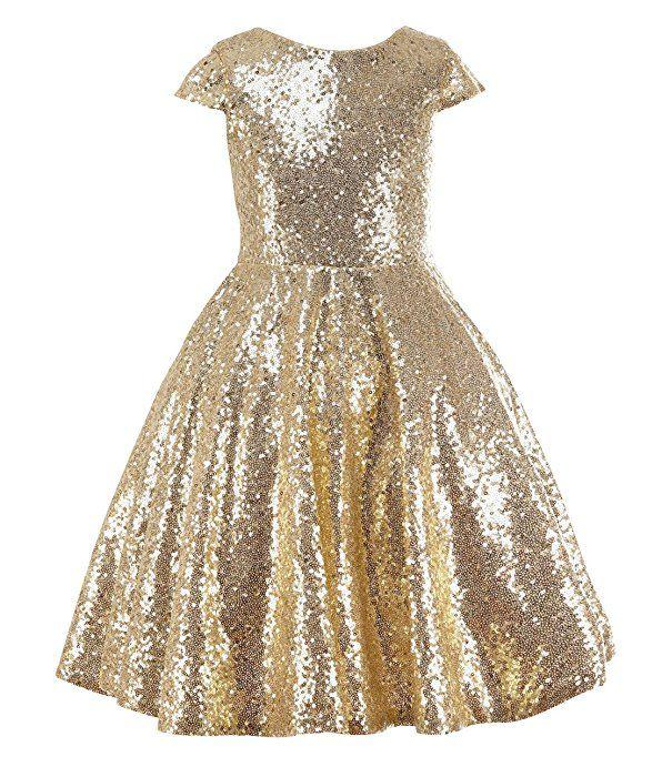 1f6ff8caf princhar Gold Sequin Flower Girl Dresses Short Party Kids Dress For ...