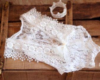 baby romper newborn lace lace romper new romper от anilita на Etsy