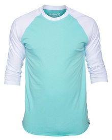 Hurley Staple 3/4 Raglan Mens Premium T-Shirt | Hurley
