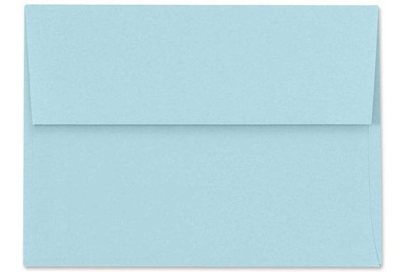 Light Blue Envelopes - Set of 25 Powder Blue A7 Envelopes - Perfect for 5x7 Invitations and Cards