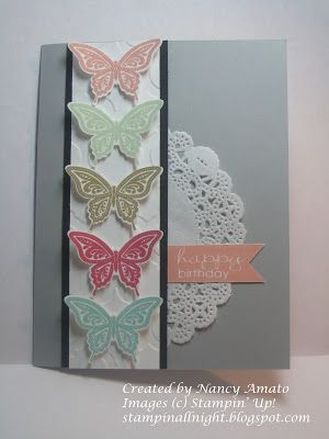 Stampin All Night #Best of Butterflies  #2013-2015 In Colors  #New Products 2013-2014 Stampin' Up! Catalog