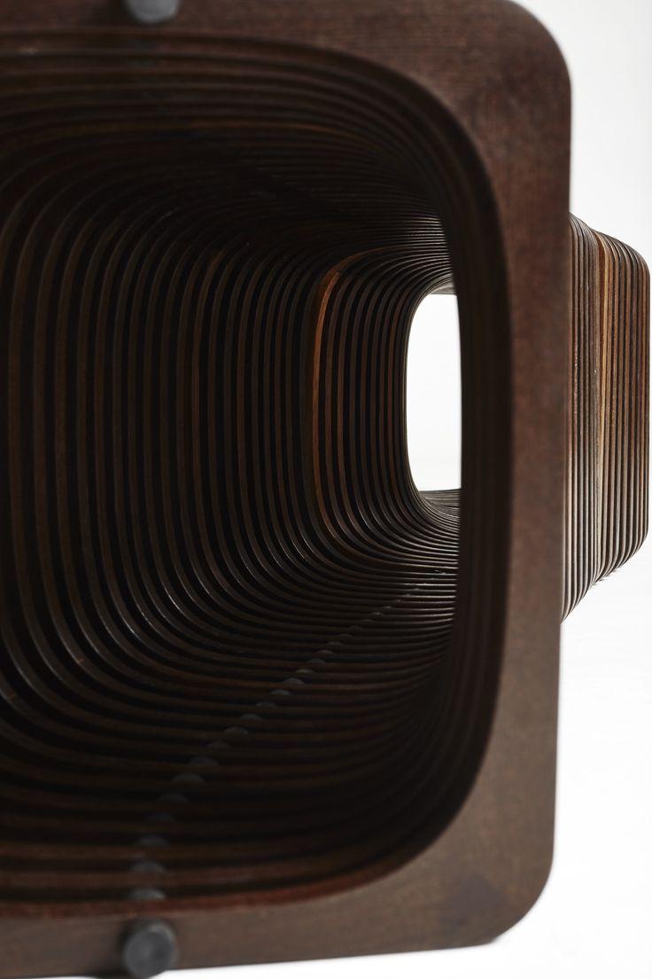 """Long repetition in smokoed oak. You decide, how long it must be. #inspiration """"long #design http://www.kjeldtoft.com/"""