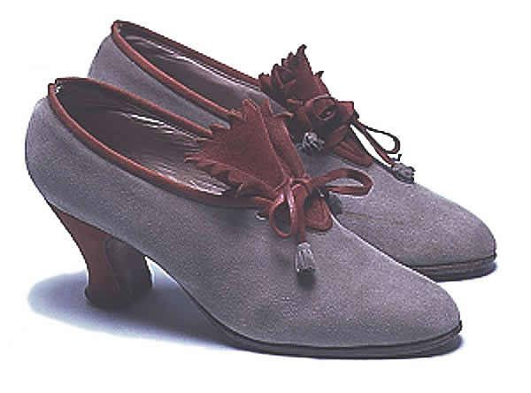 Shoes, ca 1928 continental Europe, the Bowes Museum