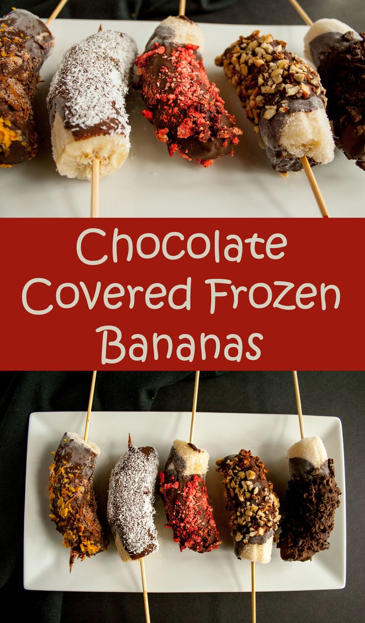 Chocolate Covered Frozen Bananas | Coats, Chocolate covered and Gluten