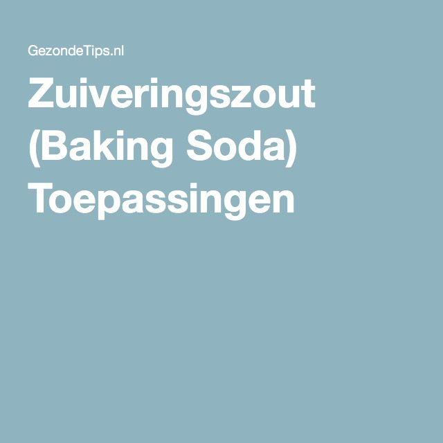 Zuiveringszout (Baking Soda) Toepassingen