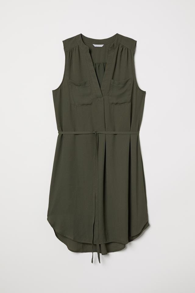 Skjortklänning Mörk khakigrön DAM | H&M SE