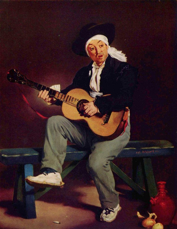 El guitarrista español (1861) Edouard Manet