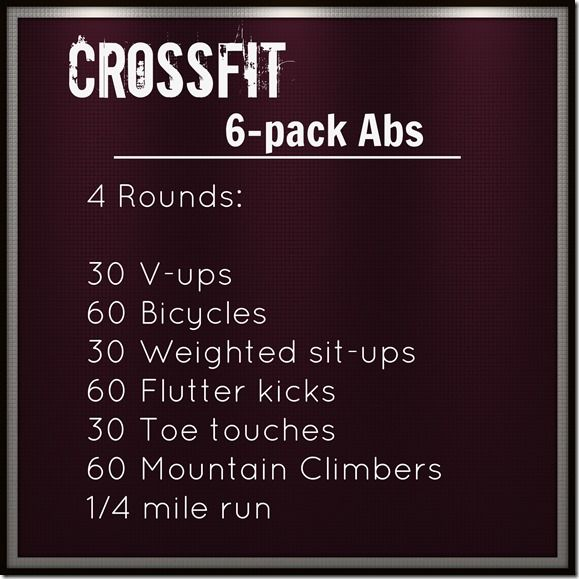 Crossfit Ab Workout. This is hard, but could build up to it