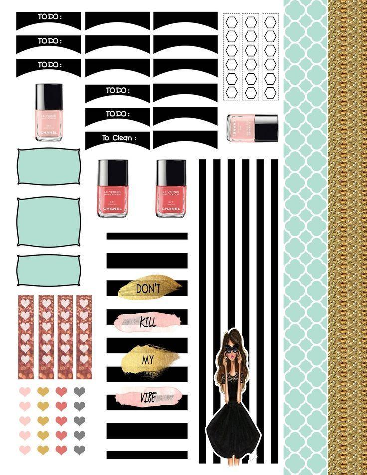 ..:: Full Faith ::..: diy Free sticker Printable cute fashion forward glitter gold erin Condren planner, EC, Plum planner, limelife planner, filofax, kiki k. stickers,  mambi planner, the happy planner free download