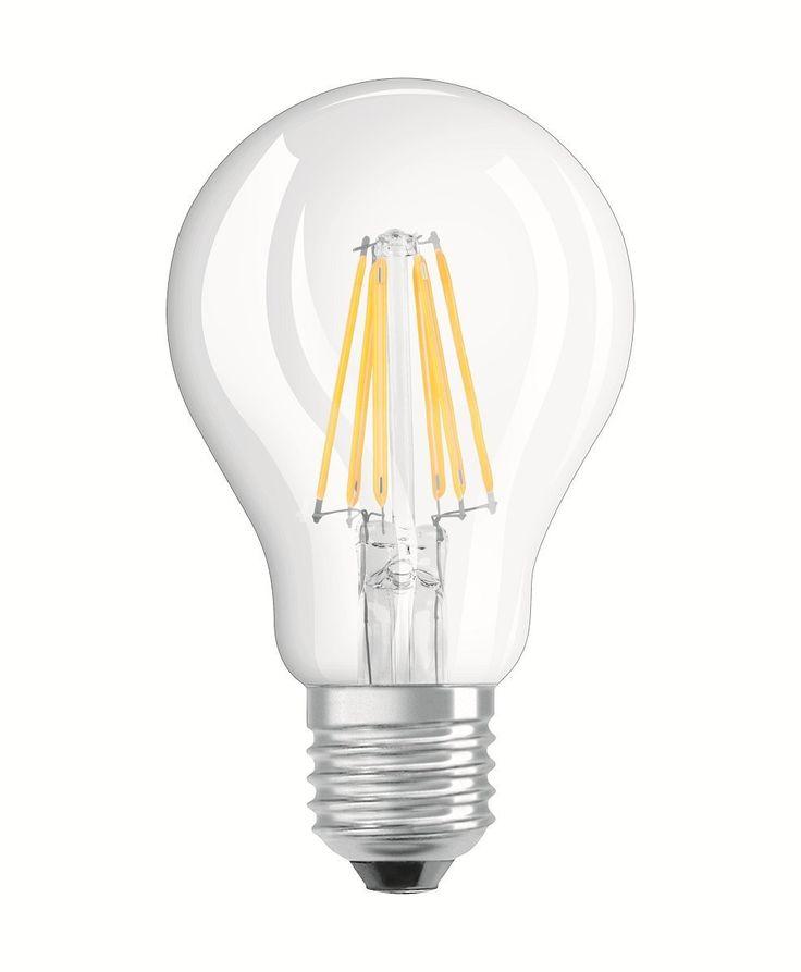 OSRAM 4052899972018 A++ BASE CLASSIC A/LED-Lampe, klassische Kolbenform im Filament-Stil mit Schraubsockel, 2er-Pack, Plastik, 6 W, E27, warm weiß, 10.5 x 6 x 6 cm: Amazon.de: Beleuchtung
