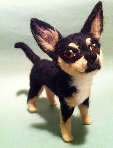 chihuahuas in art | Fine Art Needle Felted Pet Portraits of your Dog or Cat Sculpted in ...