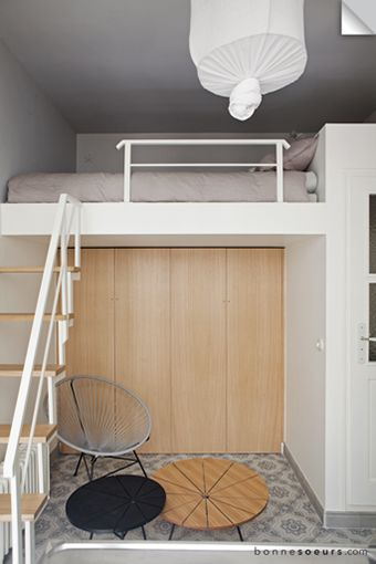 Best 25 mezzanine bed ideas on pinterest mezzanine bedroom small flats and garage loft apartment - Mezzanine chambre ...