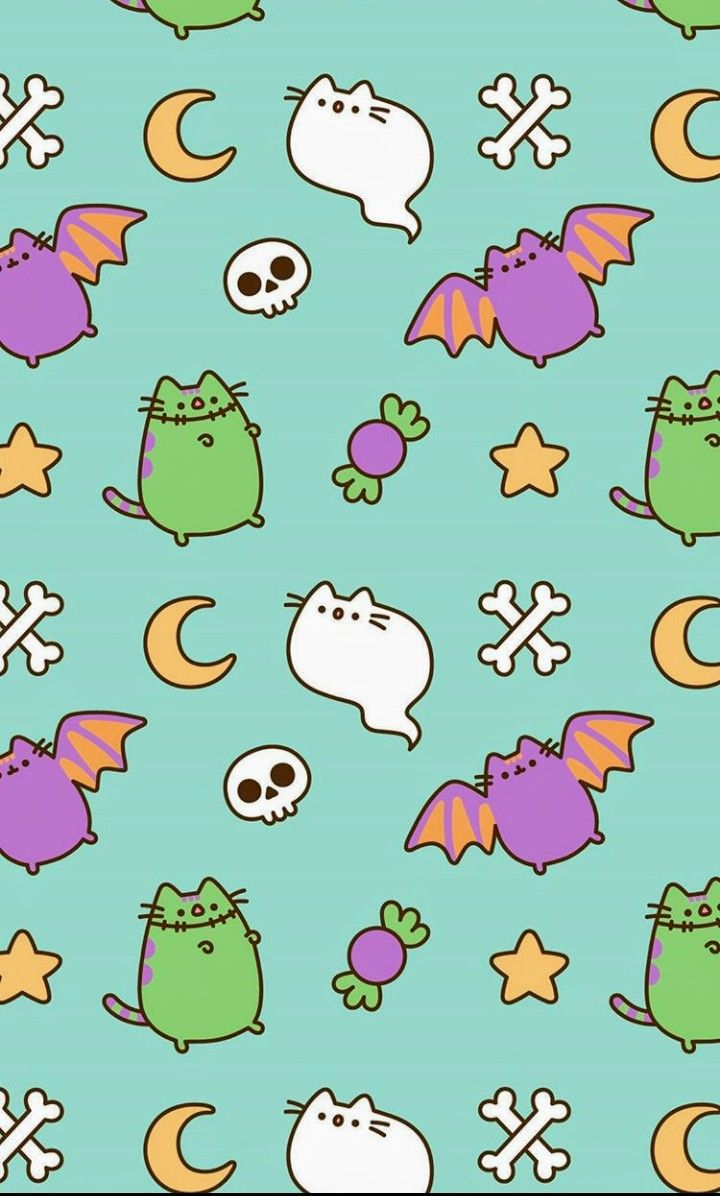 Holiday Pusheen Halloween Wallpaper Pusheen Cute Kawaii Wallpaper