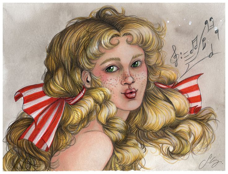 Candy Candy. Whistling Candy. Fanart by Silvia Galasso. Take a look at my Facebook Page too: https://www.facebook.com/silviagalassodrawings/photos/?tab=album&album_id=292461924423016  #silviagalasso #candycandy #candy #blond #blonde #ribbon #manga #anime #freckles #curly #mixedmedia #fanart #キャンディキャンディ #アニメ #漫画 #イラストレーター