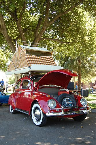 Cartop Tent on a VW Beetle Bug from Starling Travel