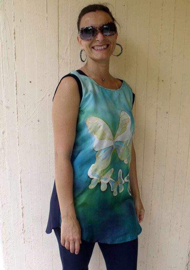 Kézzel festett selyem ruhák - hand painted silk dress  http://silkyway.hu/selyem-alkalmi-ruha-silkyway-selyemfestes.html