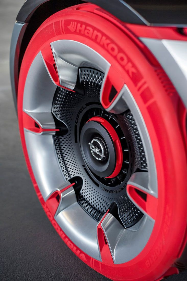 Opel gt concept tire and wheel design