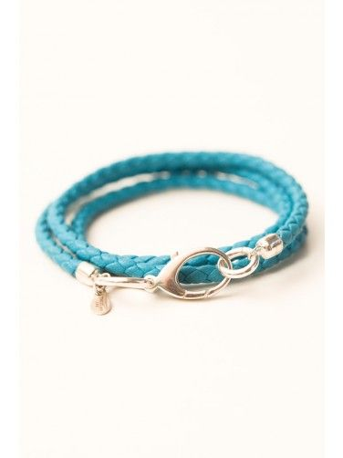 Coordinate this Turquoise Nappa Leather & Sterling Silver Bracelet with any ensemble from business casual to everyday wear