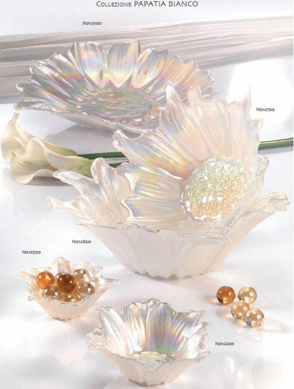 Ciotole in vetro a forma di fiore