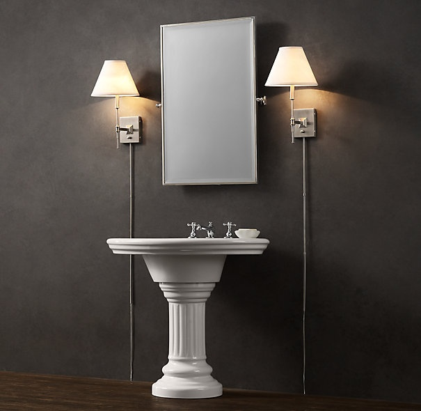 Vintage Pedestal Sink Bathrooms Pinterest