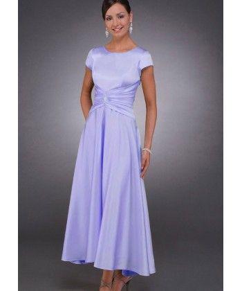 Sukienki-line szyi rękaw satyna matka panny młodej