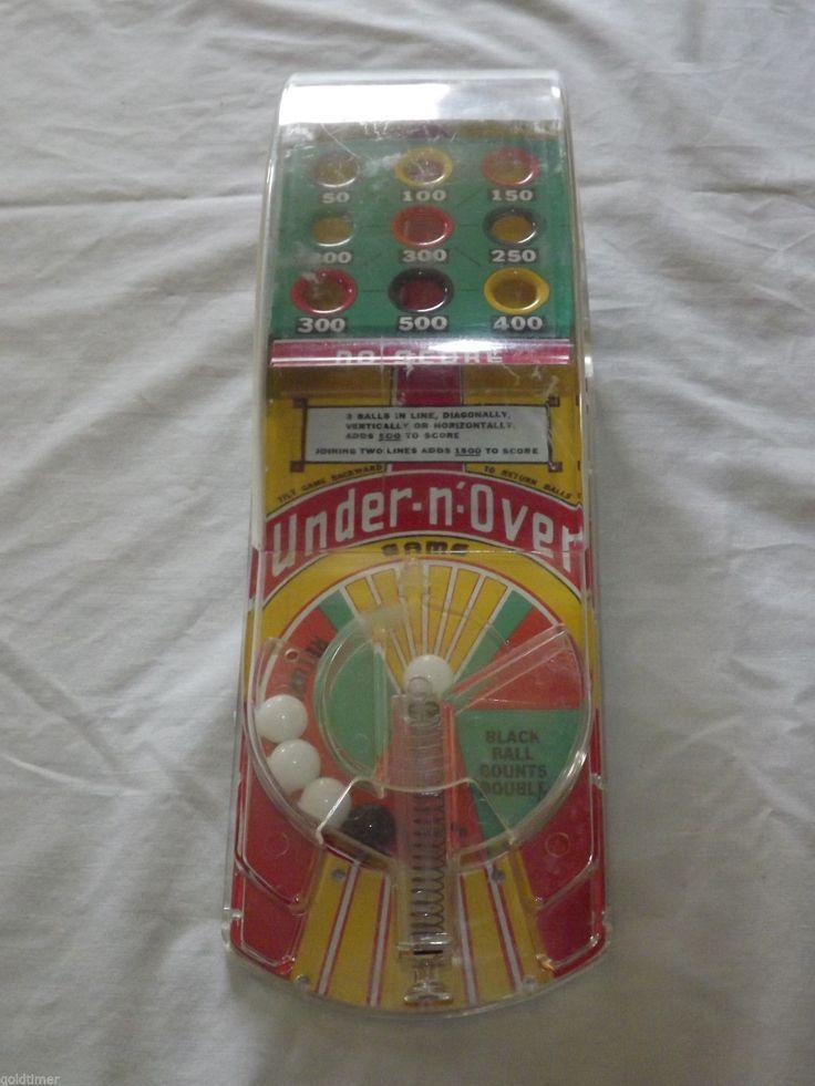 Vintage Toy 1950 60s Marx Under N Over Pinball Game | eBay