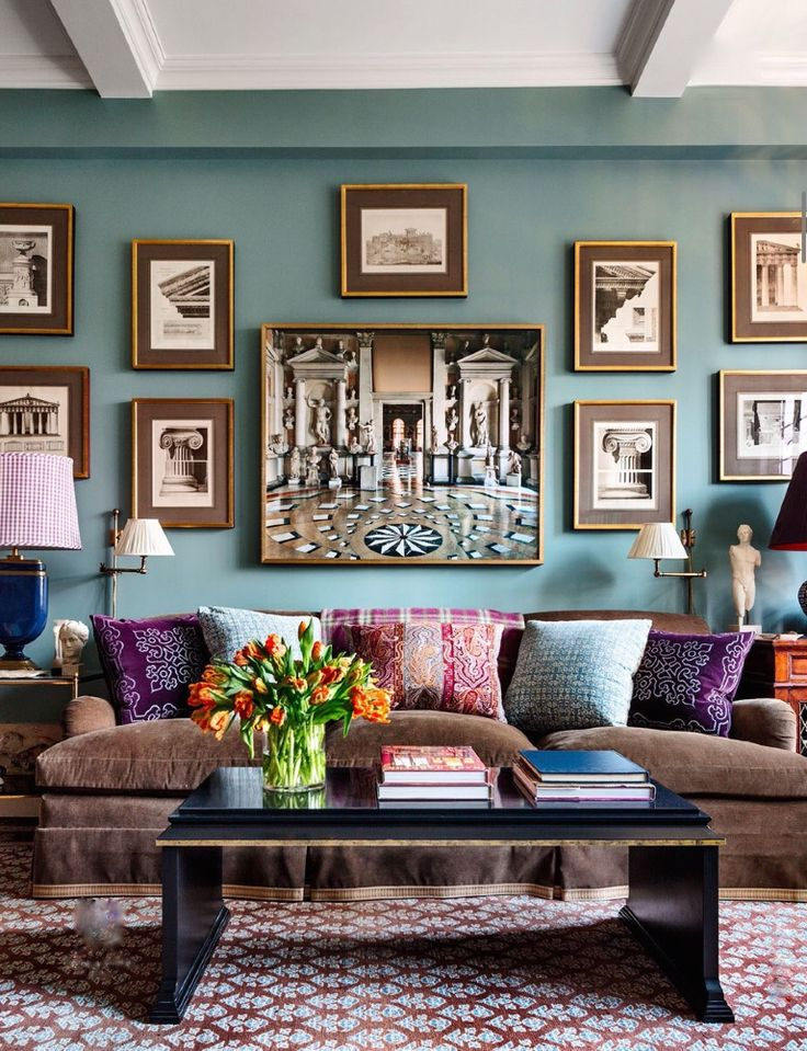 Love wall color!! Alexa Hampton apartment, photo by Scott Frances for AD