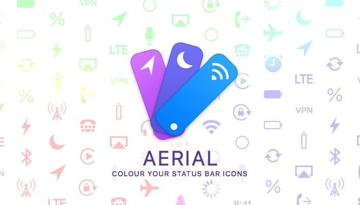 Colorize Your Status Bar Icons with a New Jailbreak Tweak Called Aerial