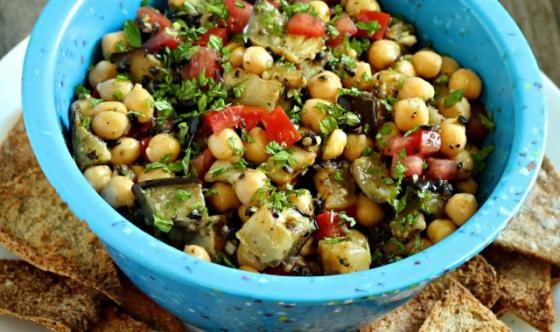 Sephardic Spiced Salad This grilled eggplant and chickpea salad is the ...