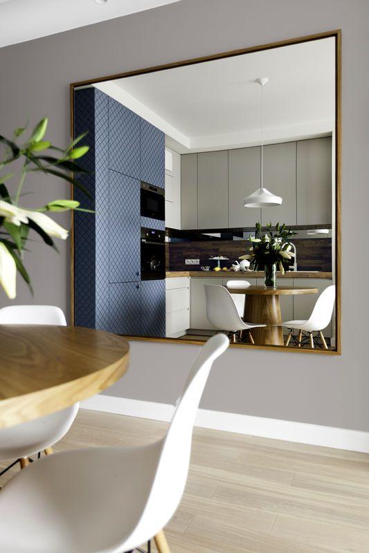 Mieszkanie z niebieską kuchnią - Kuchnia - Styl Nowoczesny - Aranżacja i wystrój wnętrz - Dom z pomysłem