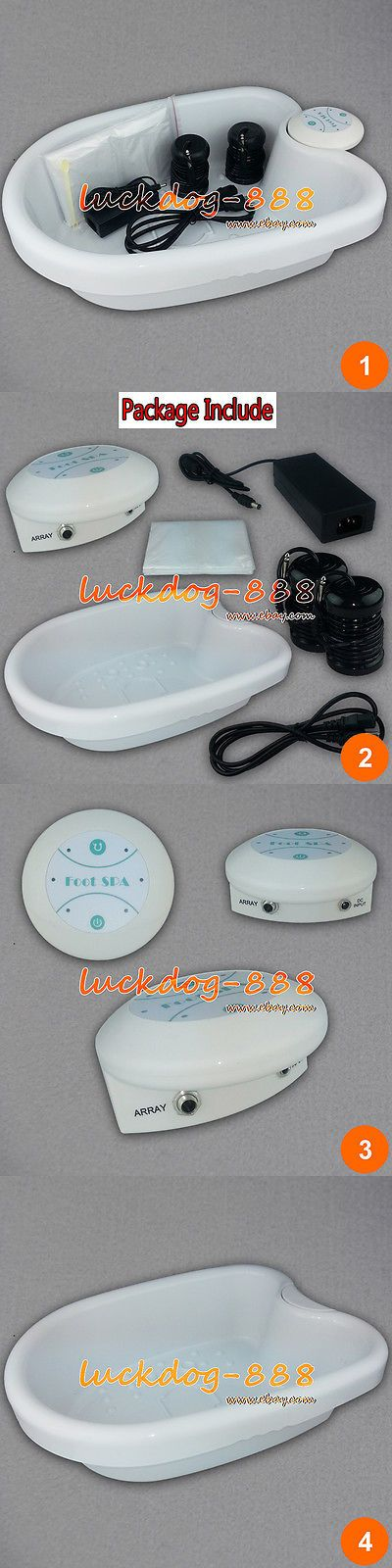 Ion Foot Baths: 2017 Ionic Detox Foot Bath Aqua Cleanse Spa With Tub Machine 10 Liners 2 Arrays -> BUY IT NOW ONLY: $104.93 on eBay!