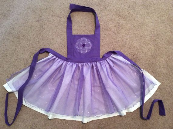 Disney Princess Inspired Sofia Dress Up Apron by JeannineChristian