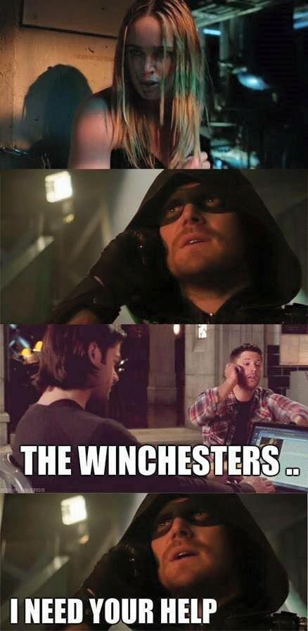 Make it happen...Arrow / Supernatural crossover.