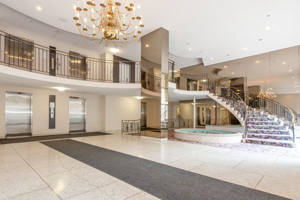 Beautiful lobby at The Lakeshore Club, 5220 Lakeshore Rd., Burlington. To book a viewing or for more information please visit www.clvgroup.com
