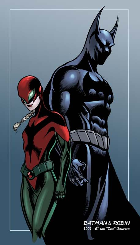 Batman and Robin redesigned by ~EliseuGouveia