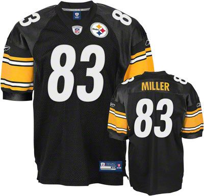 size 40 5ea30 7d7e3 reebok pittsburgh steelers heath miller 83 black authentic ...