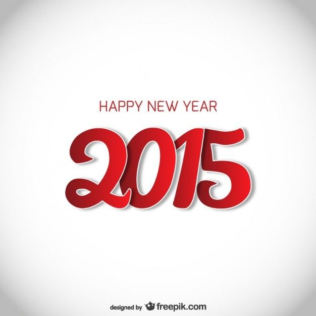 red and white new year card