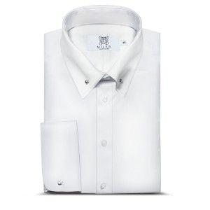 White Pin-Collar Shirt