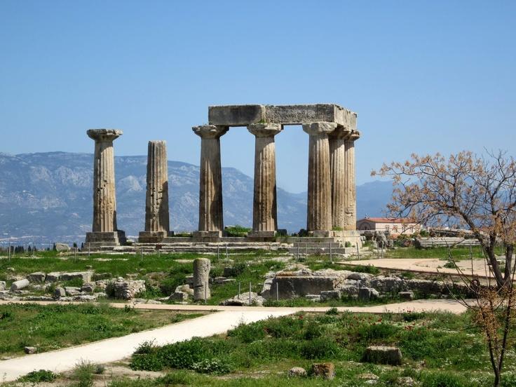 Apolonov hram, Korint, Peloponez, Grčka