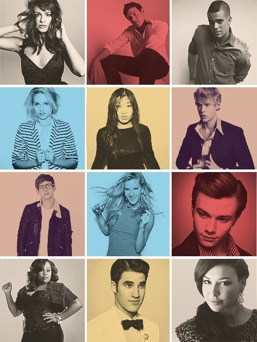 Glee cast| Rachel, Finn, Puck, Quinn, Tine, Sam, Artie, Brittany, Kurt, Mercedes, Blaine, Santana!