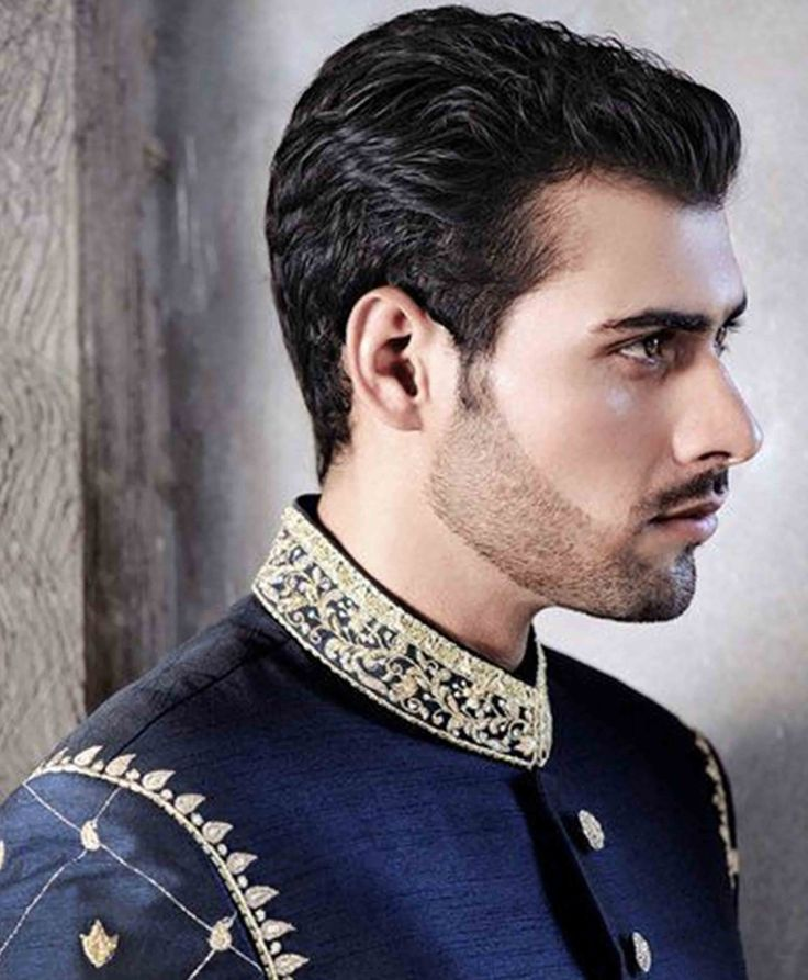 Best Pakistani Men Medium Back Slicked Hairstyles 2017 For